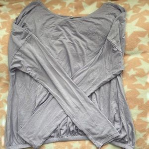Light Purple Open Back Athletic Top